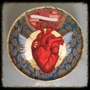 Coeur rouge et or 1