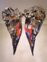 Le langage des oiseaux / Papier/ Colle/ 1 m/ 90 cm